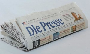 "Zeitung ""Die Presse"" Photo: Michaela Bruckberger"